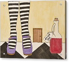 Drink Me Acrylic Print by Sean Mitchell