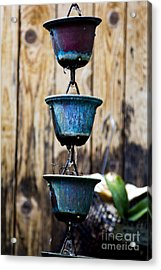 Drip Chain Acrylic Print by Sheldon Perry