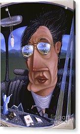 Driving 1995 Acrylic Print by Larry Preston