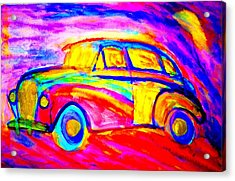 Driving Home Late At Night    Acrylic Print by Hilde Widerberg