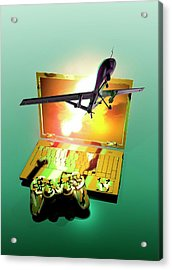 Drone And Games Console Acrylic Print by Victor Habbick Visions