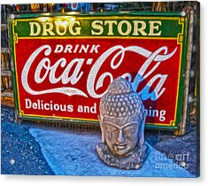 Drug Store Buddha Acrylic Print by Gregory Dyer
