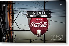 Drug Store Acrylic Print by Perry Webster