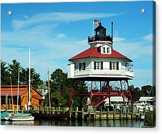 Drum Point Lighthouse Acrylic Print by Rebecca Sherman