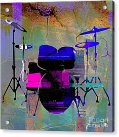 Drum Set Acrylic Print by Marvin Blaine