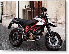 Ducati Motor Cross Acrylic Print by John Rizzuto