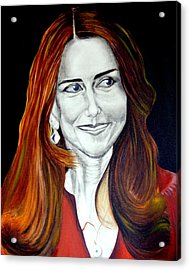 Duchess Of Cambridge Acrylic Print by Prasenjit Dhar