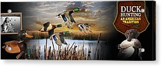 Duck Hunting An American Tradition Acrylic Print by Retro Images Archive