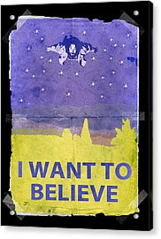 Dude I Want To Believe 14 Acrylic Print by Filippo B