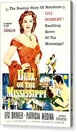 Duel On The Mississippi, Us Poster Acrylic Print by Everett
