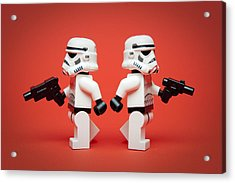 Dueling Troopers Acrylic Print by Samuel Whitton