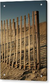 Dune Fences Early Morning II Acrylic Print by Steven Ainsworth