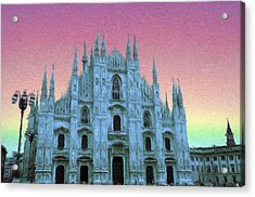 Duomo Di Milano Acrylic Print by Jeff Kolker