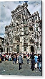 Duomo Of Florence Acrylic Print by Allen Beatty