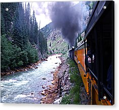 Durango To Silverton Acrylic Print by Kume Bryant