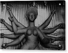 Durga Maa Acrylic Print by Atin Saha