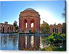 Dusk At The Palace Of Fine Arts In The Marina District Of San Francisco Acrylic Print by Jim Fitzpatrick