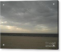 Dusk Beach Walk  Acrylic Print by Joseph Baril