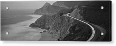 Dusk Highway 1 Pacific Coast Ca Usa Acrylic Print by Panoramic Images