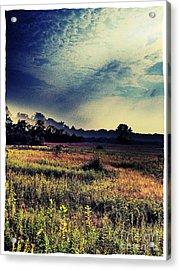 Dusk In The Pasture Acrylic Print by Garren Zanker