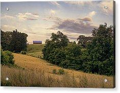 Dusk On The Farm Acrylic Print by Heather Applegate