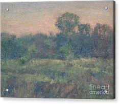 Dusk On The Meadow Acrylic Print by Gregory Arnett