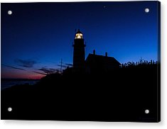 Dusk Silhouette At West Quoddy Head Lighthouse Acrylic Print by Marty Saccone