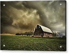 Dusty Barn Acrylic Print by Thomas Zimmerman