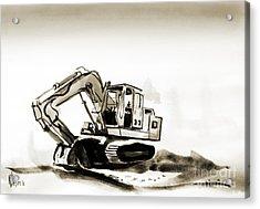 Duty Dozer In Sepia Acrylic Print by Kip DeVore