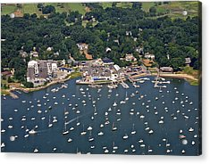 Duxbury Harbor And Downtown Duxbury Acrylic Print by Dave Cleaveland