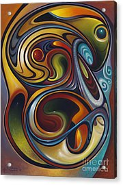 Dynamic Series #15 Acrylic Print by Ricardo Chavez-Mendez