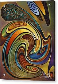Dynamic Series #19 Acrylic Print by Ricardo Chavez-Mendez