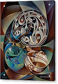 Dynamic Still Il Acrylic Print by Ricardo Chavez-Mendez