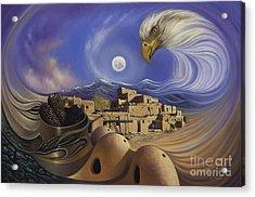 Dynamic Taos Ill Acrylic Print by Ricardo Chavez-Mendez