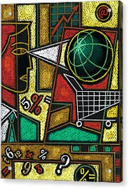E-commerce Acrylic Print by Leon Zernitsky