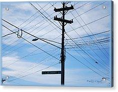 E Wt Harris Blvd - Charlotte Acrylic Print by Paulette B Wright