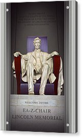 Ea-z-chair Lincoln Memorial 2 Acrylic Print by Mike McGlothlen