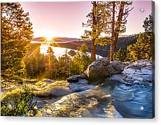 Eagle Falls Emerald Bay Lake Tahoe Sunrise First Light Acrylic Print by Scott McGuire