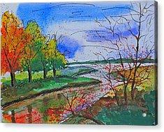 Early Autumn Landscape Acrylic Print by Shakhenabat Kasana