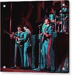 Early Beatles Acrylic Print by John Travisano