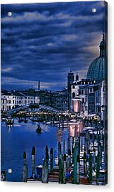 Early Evening Venice Acrylic Print by Tom Prendergast