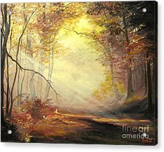 Early In The Morning Acrylic Print by Sorin Apostolescu
