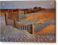 Early Morning On The Dunes I Acrylic Print by Steven Ainsworth