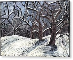 Early Snow Acrylic Print by Grace Keown