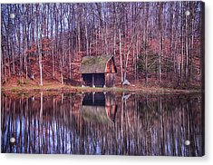 Early Winter At The Boat House Acrylic Print by Daphne Sampson