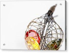 Earrings Acrylic Print by Modern Art Prints