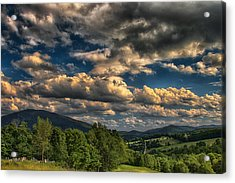 Earth Bending At Mt. Ascutney Acrylic Print by Nathan Larson