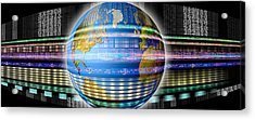 Earth In Digital Steam Acrylic Print by Panoramic Images
