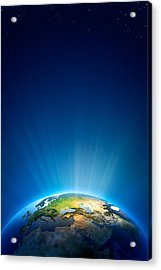 Earth Radiant Light Series - Europe Acrylic Print by Johan Swanepoel