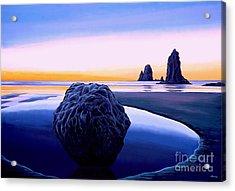 Earth Sunrise Acrylic Print by Paul Meijering